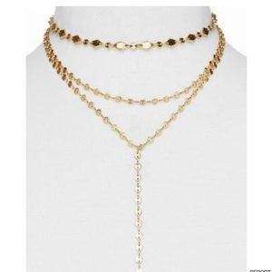"BAUBLEBAR Aimee Y Choker Necklace, 12"" in Gold"